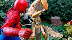 Paprihaven 1100 (MayorPaprika) Tags: mattel queenhippolyta horse wonderwoman spiderman park paprihaven turtlecrossing madetomove barbie policeofficer captainaction playing mantis lgv20 16 custom diorama toy story actionfigure 2017