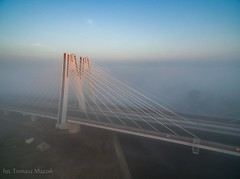 DJI_0001 (TomaszMazon) Tags: bridge krakow vistula river poland pylon mist fog sunrise