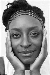 Thinking About The One You Love! (LiesBaas) Tags: girl woman thinkingabouttheoneyoulovebyliesbaas hands inyourface portrait portret blackandwhitephotography zwartwitfotografie nubia drieluik triptych liesbaas