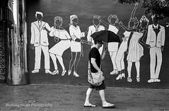 Monday (Working Image Photography) Tags: baltimore bw blackandwhite mural club umbrella blah party