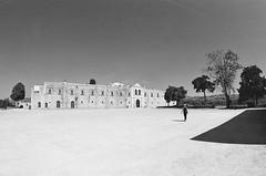 Arkadi Historical Monastery (geo.grafistas) Tags: nikonf2a fisheye nikkor 1635 red filter ilfordfp4plus125