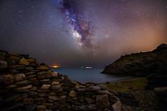 CG Cala de Huncos (J. Cuenca) Tags: víalactea milkyway astrofotografia murcia cartagena playa agua mar rocas montaña