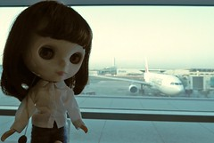 BaD July 25 - Aeroplane (lyndell23) Tags: blythe blythedoll blytheaday photochallenge simplychocolate travellingblythe airport
