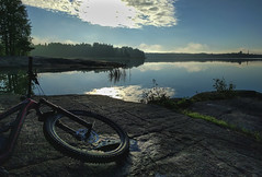 littoinen lake littoistenjärvi mtb cycling mountainbike... (Photo: ZeiR on Flickr)