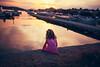 Nightfall (mravcolev) Tags: child girl kid sea nightfall dusk twilight reflection shadows portrait mood canoneos5dmarkii 5dmkii 35l canonef35mmf14lusm