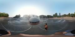 International Fountain; Seattle Center (samayoukodomo) Tags: samsunggear360 gear360 360° 360 photosphere equirectangular lifeis360 waterfountain lifein360 360camera