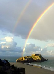 Photo of Double rainbow over St Catherines fort