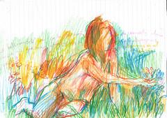 un dibujo cada dia con pensamientos (GARGABLE) Tags: angelbeltrán apuntes pensamientos nude naturaleza belleza gargable