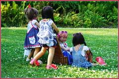 Blaue Stunde  ... (Kindergartenkinder) Tags: dolls himstedt annette park blume garten kindergartenkinder essen grugapark personen blumen sanrike milina sommer kindra setina