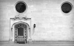 Princeton IV (Alexander Day) Tags: princeton university new jersey vignette blackandwhite monochrome door window circle shadow shadows circles alex day alexander