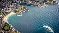 Coogee from the Skies (engr.dude) Tags: coogee beach sydney sky flight weddingcake island sea ocean australia shore