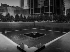 9/11 Memorial Park (C@mera M@n) Tags: 911memorial blackandwhite manhattan monochrome ny nyc newyork newyorkcity newyorkcityphotography places rain urban outdoors urbanpark
