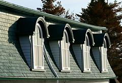Four Windows in Trinity (Colorado Sands) Tags: windows trinity canada newfoundland architecture sandraleidholdt roof newfoundlandandlabrador buidling dormer