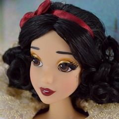 2017 D23 Snow White Limited Edition 17 Inch Doll - Disney Store Purchase - Deboxing - On Backing - Tight Closeup Right Front View #2 (drj1828) Tags: d23 2017 expo purchases merchandise limitededition artofsnowwhite snowwhiteandthesevendwarfs snowwhite princess deboxing certificateofauthenticity le1023