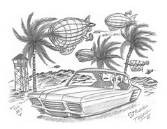 Strung Treng (rod1691) Tags: bw scifi grey concept custom car retro space hotrod drawing pencil h2 hb original story fantasy funny tale automotive art illistration greyscale moonpies sketch