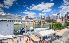 View from Intrepid (Jemlnlx) Tags: canon eos 5d mark iv 4 5div 5d4 ef 1635mm f4 l is usm wide angle zoom lens slr dslr new york city ny nyc intrepid air space sea museum aircraft carrier skyline clouds landscape tiffen bw circular polarizer gnd graduated neutral density filter filters stacked manhattan