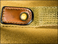 2017-197 Textures (Darren Wilkin) Tags: macromondays macro textures oneaday 365 bag canvas handle brass leather