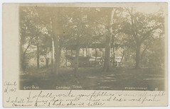 Milan [sic] Co. Courthouse. Cameron, Texas. (SMU Central University Libraries) Tags: pavilions urbanparks trees