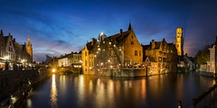 Bruges: Always Incredible (NOAC_) Tags: bruges belgium classic night nocturnal dusk sunset blue hour europe panorama beautiful explore explored pentax k5 iis skyline cityscape city medieval architecture outdoor