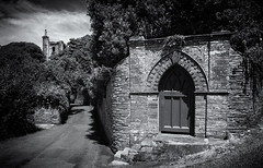 Slapton Tower. (Go placidly amidst the noise and haste...) Tags: slapton fourteenthcentury westtower collegiatechantry stmary westcountry southwest mono lowkey highcontrast silverefex 14thcentury collegiate chantry