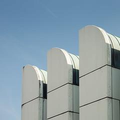 Threesome - Details of Modern Building (Photothomas85) Tags: textur berlin architekture urban buidling dach trilogie bauhaus sky gropius lützowufer landwehrkanal