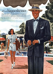 1946 Kuppenheimer Clothing ad, illustrated by Robert Goodman (Tom Simpson) Tags: 1946 illustration robertgoodman 1940s kuppenheimer man woman fashion clothing vintagead ad ads advertising advertisement vintageads