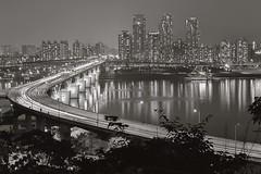 Cheongdam Bridge (withcamera) Tags: cheongdambridge blackandwhitephoto bwphoto city beautyofkorea nikon nikondf 24~70lens seoul southkorea 한국의미 서울