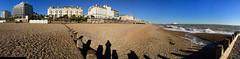 Panorama beach Eastbourne. (elsa11) Tags: panoramabeacheastbourne eastbourne beach promenade eastbournepier pleasurepier beachhuts grandparade england southsussex sussex southengland panorama