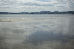 incoming tide Dublin bay (Wendy:) Tags: dublinbay reflections sky mountains cpl dublin