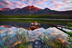pyramidLake01 (dx247) Tags: banff jasper canada rockies mountain summer waterfall sunset sunrise canon 5dii lee big stopper gnd filter water river lake landscape
