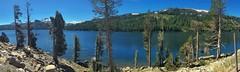 Caples Lake panorama. Carson Pass, Kirkwood Ca. (lindayaecker) Tags: carsonpass laketahoe forest woodland highsierra sierra alpine trees panorama blue kirkwood resort tahoe lake