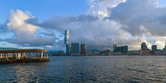 Morning at Victoria Harbor, Hong Kong (kcma17) Tags: sunset beach water sky blue red art fantastic marvelous intriguing fantastical beautiful clever subtle fine wonderful brilliant excellent splendid amazing remarkable landscape night