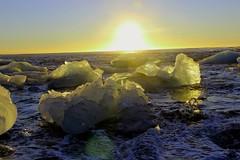 diamond beach (srouve78) Tags: islande iceland sea beach diamond sun sunset