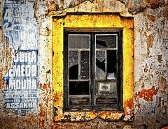 window (HUNGRYGH0ST) Tags: window damaged ruin house wall portugal yellow