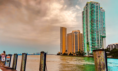 A stormy afternoon right now. (Aglez the city guy ☺) Tags: storm skies downtown downtownmiami dock riverwalktrail river colors cityscapes walking waterways walkingaround outdoors urbanexploration