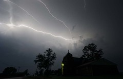 The power and the glory (Jay Murdock) Tags: lightning storm ohio stcharlesmethodistchurch