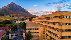 GSH at dawn (Deanvdw) Tags: ifttt 500px sky landscape city water nature travel house tourism architecture roof summer building wood town mountain blue panoramic hospital outdoors horizontal cape no person gsh heart transplant groote schuur
