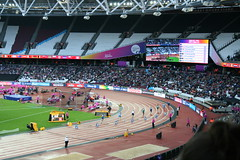 Out of the blocks - T44 Mens 200m start (h_savill) Tags: london 2017 world para athletics championship stratford july stadium competition compete athelete atheletics disability spectator aport track field seat crowd olympic park t44 mens 200m final