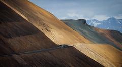 Sveigjanlegur Vegur (Jack Landau) Tags: landscape nature slope mountains sky clouds road highway coastal ring iceland route 1 jack landau