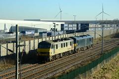 90044 92033 aa Barby Nortoft 200117 D Wetherall (MrDeltic15) Tags: freightliner class90 90044 0z92 92033 caledonian class92 gbrailfreight barbynortoft wcml dirft