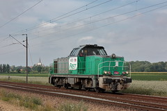 Vossloh 2351 - GA 1000 AS - BB 460051 / Morbecque (jObiwannn) Tags: train fret ferroviaire locomotive