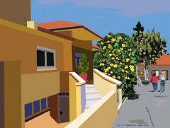 A house in Ashkelon, created by photoshop July 2017