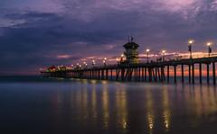 Evening at the Pier (m e a n d e r i n g s) Tags: huntingtonbeach orangecounty california dusk pier long exposure nd filter landscape