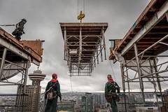 Vancouver BC - Exchange Tower (20) (doublevision_photography) Tags: vancouver vancouvercity vancouverrealestate vancouverbc vancouverskyline vancity vancouvercanada jasocrane constructioncrane vancouverconstruction roofing vancouverroofing contruction towercranephotography flyingtables tableflying