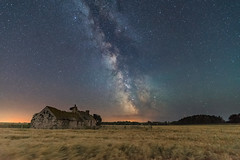 'A Field Of Dreams' (Kristofer Williams) Tags: night sky stars nightscape milkyway astro astrophotography farm building barn derelict barley barleyfield field wales anglesey nightsky