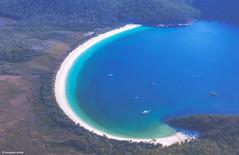 Wineglass bay (Sougata2013) Tags: wineglassbay freycinetnationalpark eastcoasttasmania tasmania australia colesbay tasmansea birdseyeview scenicflight nikond7200