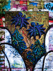 Evolution (Steve Taylor (Photography)) Tags: goodchild nylon inferno elephant worm creature spider crab davidcameron hilarybenn cast moulding art wheatpaste wheatup pasteup streetart graffiti tag uk gb england greatbritain unitedkingdom london texture