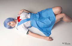Rei Ayanami (MC Illusion) Tags: anime cosplaying cosplay cosplayer costume photography studio blue short hair soft animation tv rei ayanami neon genesis evangelion student uniform