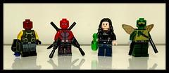 Small changes (Korpsical666) Tags: deadpool jessica jones dragon fly shocker mcu marvel comics lego minifigure custom spiderman homecoming villain hero