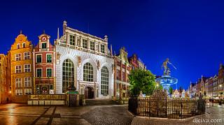 Poland, Pomerania, Gdansk, place of Town Hall, Neptune fountain